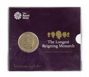 2015 £5 Longest Monarch Royal Mint Brilliant Uncirculated pack